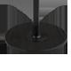 Bodenplatte Esche schwarz